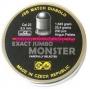Пульки к пневматике JSB EXACT JUMBO MONSTER Match Diabolo Airgan Pellets 5,5 мм (.22), вес 1,645 грамм 25,4 грана Чехия 200 штук