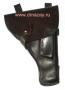 Кобура для пистолета Токарева (ТТ) штатная закрытая поясная из натуральной кожи