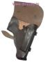 Кобура для пистолета Макарова (ПМ) штатная закрытая поясная из натуральной кожи